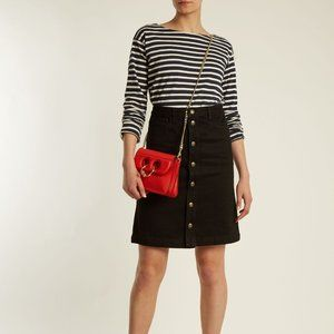A.P.C. Therese Denim High Rise Skirt in Black